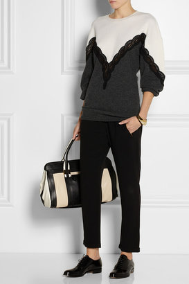 Stella McCartney Lace-detailed wool sweater