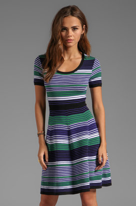 Shoshanna Pre-Fall Sweaters Striped Aviva Dress