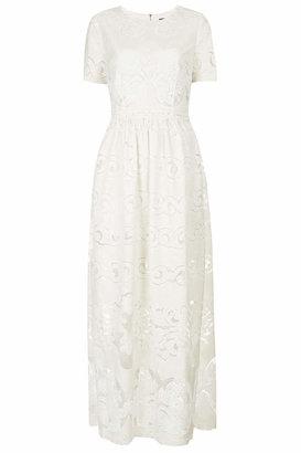 Topshop Lace placement maxi dress