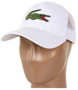 Lacoste Large Croc Trucker Hat (Black) - Hats