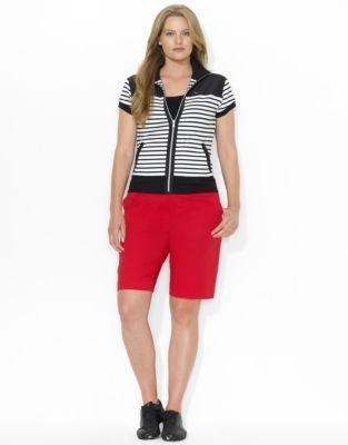 Lauren Ralph Lauren Plus Stretch Cotton Bermuda Short