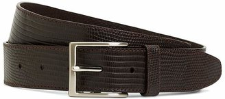 Brooks Brothers Matte Lizard Leather Belt