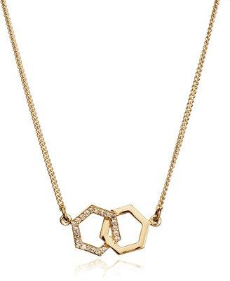 Rachel Jackson London Infinity Diamond Hexagon Necklace