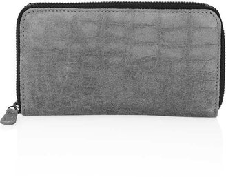 Topshop Embossed Suede Croc Purse