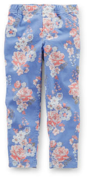 Carter's Floral Stretch Twill Jeggings