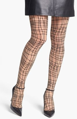 Wolford 'Spider Check' Tights