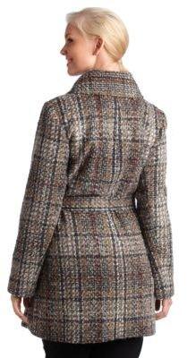 DKNY Wool Coat with Belt
