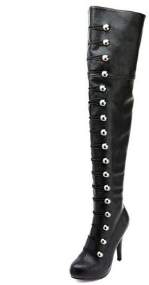 Charlotte Russe Buttoned Up Thigh High Boot