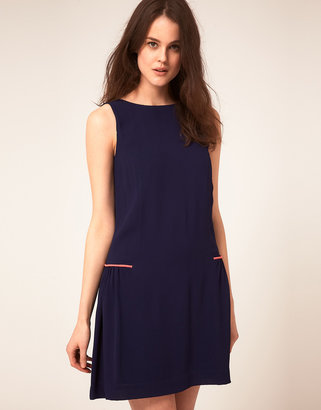 Jaeger Boutique By Gathered Back Shift Dress