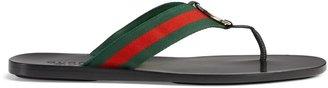 Gucci Web strap thong sandal