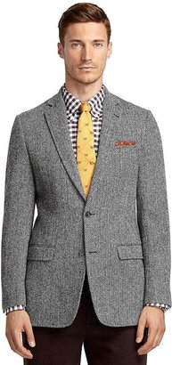 Brooks Brothers Fitzgerald Fit Harris Tweed Herringbone Sport Coat