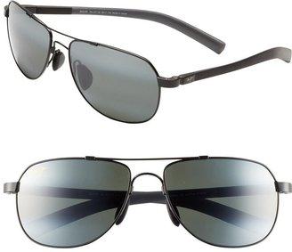 Maui Jim Maui Flex PolarizedPlus(R)2 56mm Aviator Sunglasses