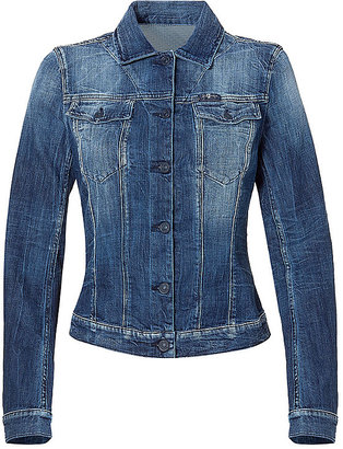 7 For All Mankind SEVEN Washed Blue Denim Jacket by Seven