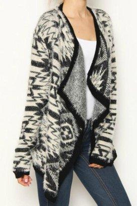 Leshop Fuzzy Tribal Cardigan $49.99 thestylecure.com