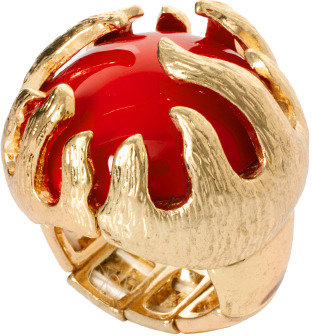 Kenneth Jay Lane Statement Red Cocktail Ring