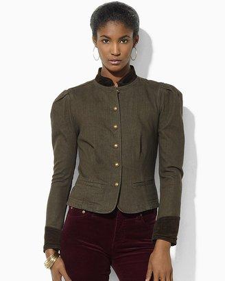 Lauren Ralph Lauren Button Front Mandarin Collar Jacket