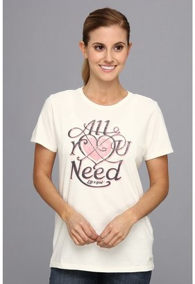 Life is Good All You Need CrusherTM Tee $26 thestylecure.com