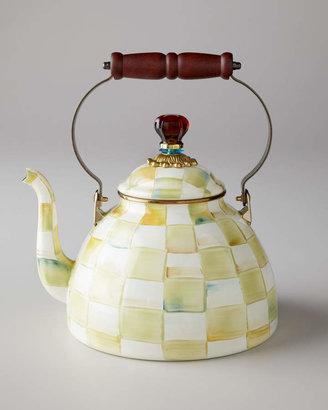 Mackenzie Childs MacKenzie-Childs Parchment Check 2-Quart Tea Kettle