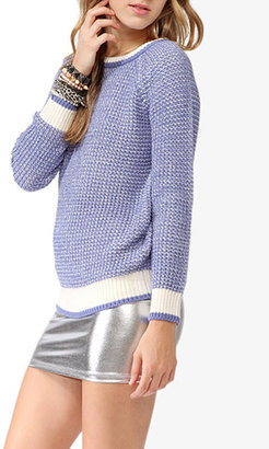 Forever 21 Chunky Duo-Toned Sweater