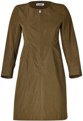 Jil Sander Olive Cotton-Silk Dress