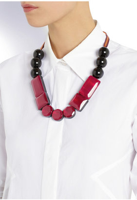 Marni Resin and acrylic necklace