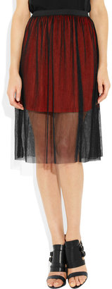 Sandro Juste double-layered tulle skirt