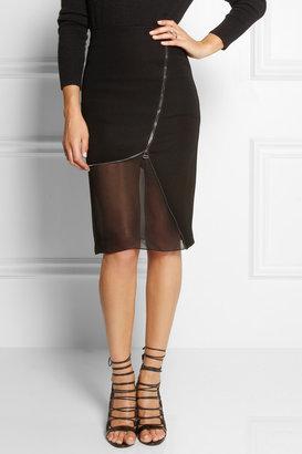 Altuzarra Jodie stretch-crepe and chiffon skirt