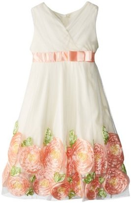 Bonnie Jean Girls 7-16 Sleeveless Crossover Dress With Bow At Waist