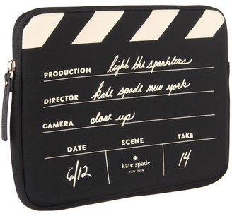 Kate Spade Directors Clapboard Tablet Sleeve (Black/Clotted Cream) - Electronics