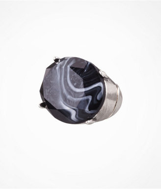 Express Oval Faceted Stone Stretch Ring