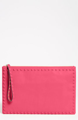 Valentino 'Rockstud - Small' Leather Clutch