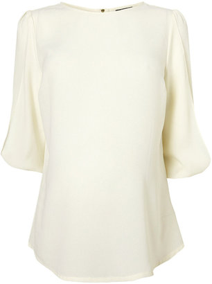 Topshop Maternity Bow Sleeve Blouse