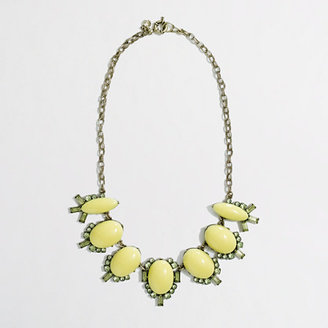 J.Crew Factory Factory stone chandelier necklace