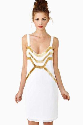 Nasty Gal Golden Moments Dress