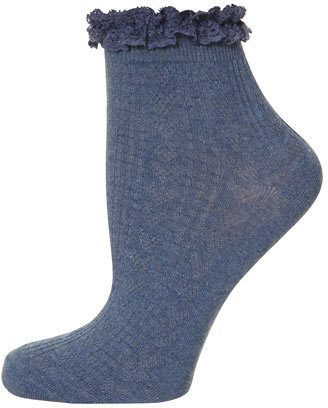 Dorothy Perkins Denim lace top ankle socks