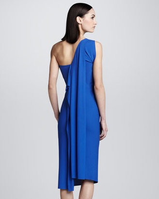 Roland Mouret Wimba Draped Dress, Cobalt