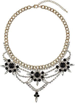 Topshop Premium Crystal Rhinestone Collar