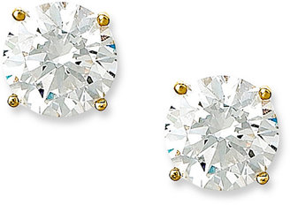 Crislu Earrings, 18k Gold over Sterling Silver Cubic Zirconia Stud Earrings (4 ct. t.w.)