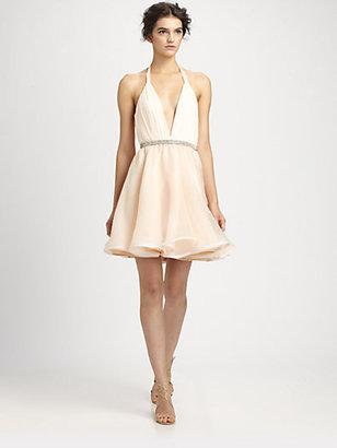 Alice + Olivia Brooke Silk Halter Dress