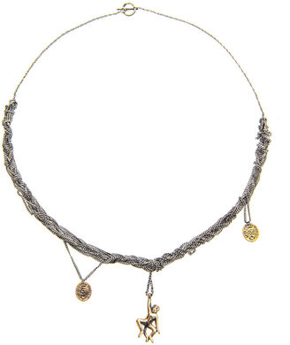 J. Dauphin Braided chain necklace