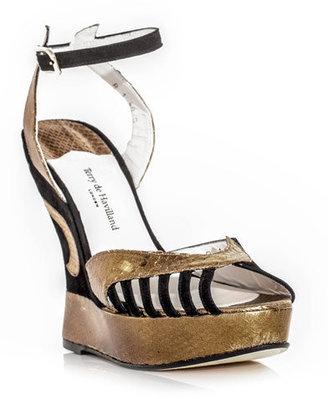 Terry De Havilland Margaux python wedge shoes