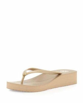 Tory Burch Rubber Wedge Flip-Flop $65 thestylecure.com