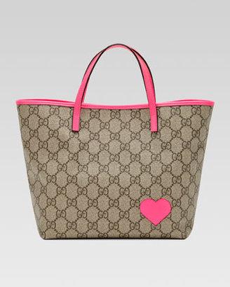 Gucci GG Heart Tote Bag, Hot Pink