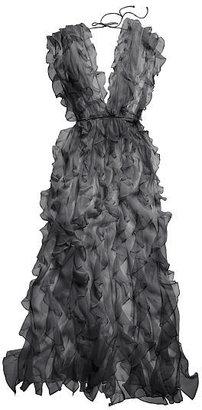 Victoria's Secret The Designer Collection Ruffle Silk Chiffon Robe