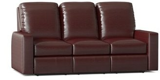 "Omnia Leather Mirage 78"" Wide Genuine Leather Square Arm Reclining Sofa Bed Body Fabric: Guanaco Sangria, Reclining Type: Power, Mattress Type: No Mat"