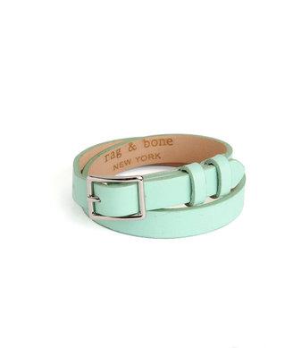 Rag and Bone Double Wrap Bracelet - Celadon