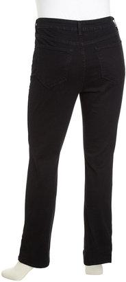 NYDJ Sheri Black Skinny Jeans, Women's