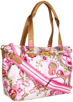 Oilily Fantasy Floral M Carry All (Cream) - Bags and Luggage