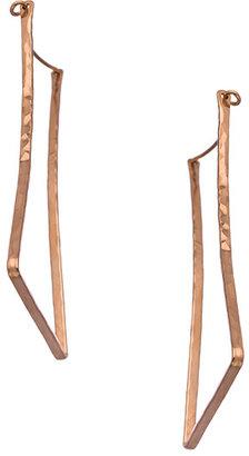 Ija Designs Faceted Rectangular Hoop Earrings