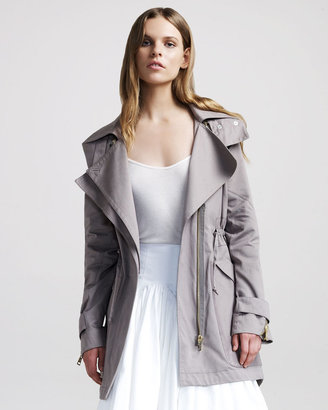 Altuzarra Walnut Hooded Overcoat
